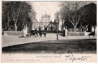 Postal antigo da Igreja de Matosinhas