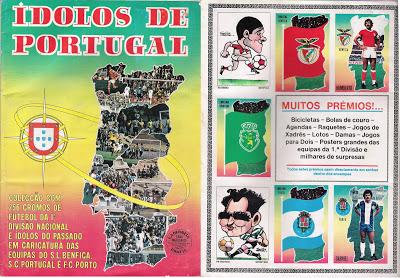Caderneta de cromos de futebol - Ídolos de Portugal