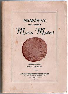 Memórias da actriz Maria Matos
