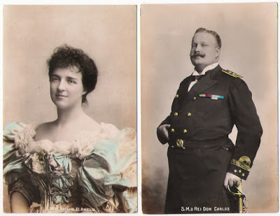 Postais antigos D.Carlos e D. Amélia