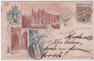 Postal antigo: Recordação da Batalha