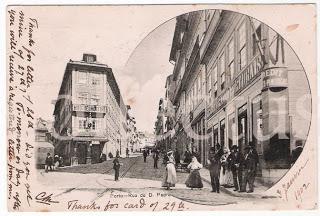 Postal antigo Rua D.Pedro, Porto