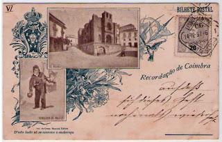 Postal antigo Coimbra