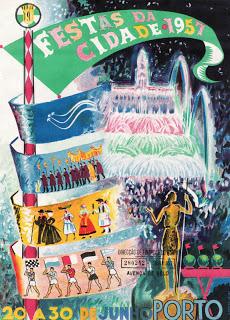 Cartaz Festas da Cidade 1957