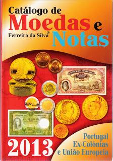 catálogo de moedas e notas 2013