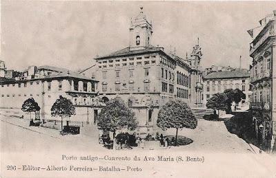 Postal antigo Porto Convento da Ave Maria (S. Bento) - Alberto Ferreira