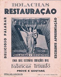 Mata-borrão Bolachas Restauração - Fábrica Triunfo
