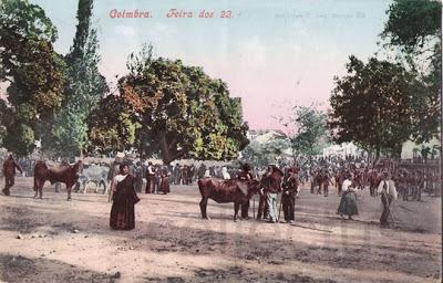 Postal antigo de Coimbra - Feira dos 23