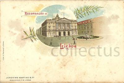 Postal de Lisboa, com ilustração da Câmara da cidade. Edição: Jerónimo Martins & F.º