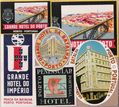Rótulos de hotéis do Porto