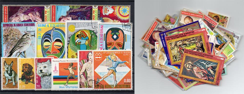 130 selos diferentes da Guiné Equatorial