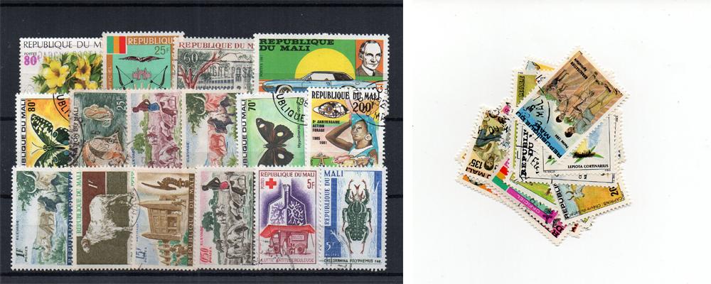 29 selos diferentes do Mali
