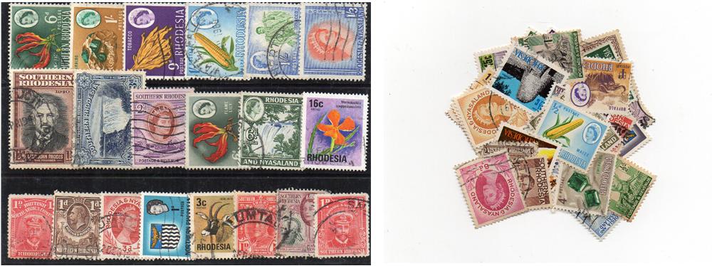 55 selos diferentes da Rodésia