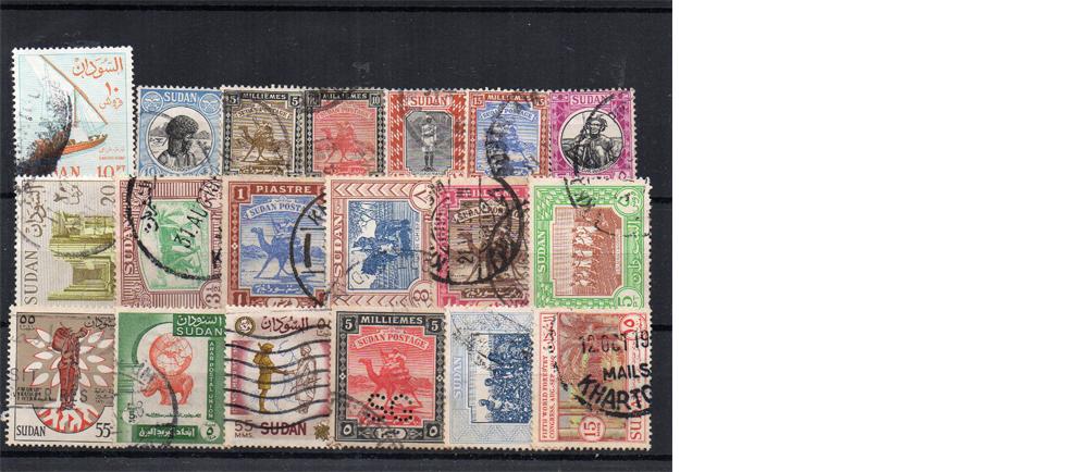 19 selos diferentes do Sudão