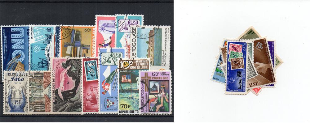 20 selos diferentes do Togo