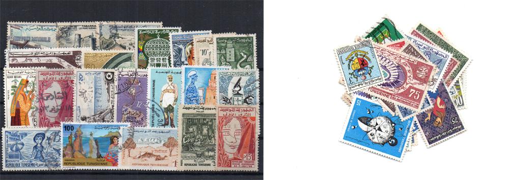 50 selos diferentes da Tunísia
