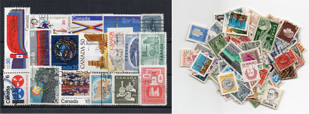 170 selos diferentes do Canadá