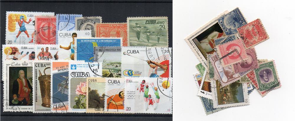 50 selos diferentes de Cuba
