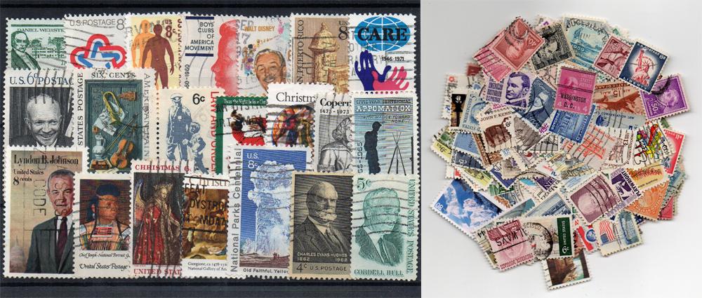 230 selos diferentes selos dos Estados Unidos da América