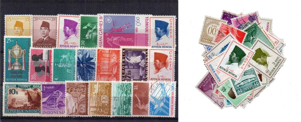 70 selos diferentes da Indonésia