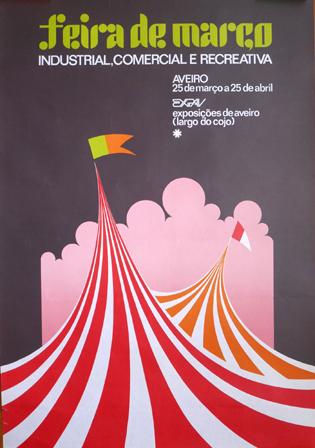 Cartaz Feira de Março Industrial, Comercial e Recreativa. Aveiro