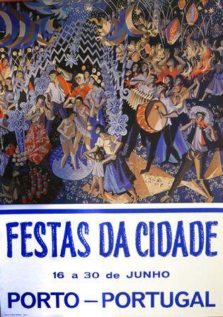 Cartaz Festas da Cidade. Porto - Portugal