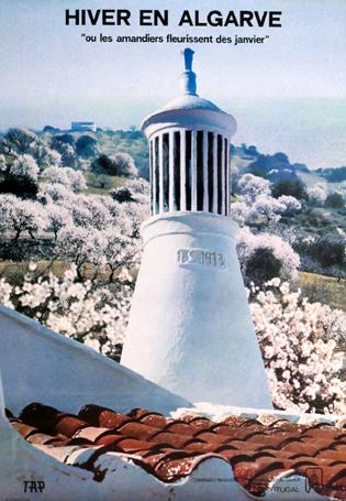 """Cartaz Hiver en Algarve """"ou les armandiers fleurissent des janviers"""""""