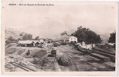 Postal antigo Estação do caminho de ferro da Régua
