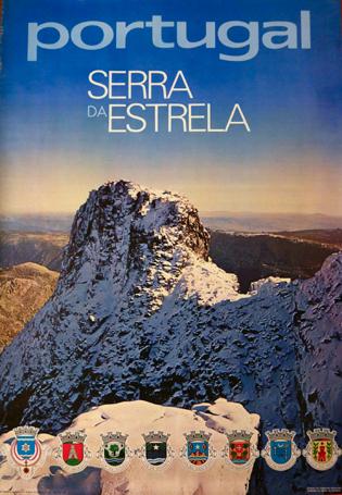 Cartaz Portugal. Serra da Estrela