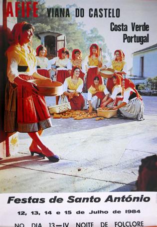 Cartaz Afife. Viana do Castelo. Costa Verde. Portugal. Festas de Santo António