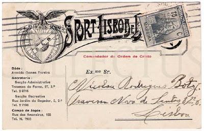 Bilhete Postal do Sport Lisboa e Benfica