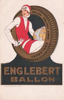 Postal publicitário: Englebert Ballon