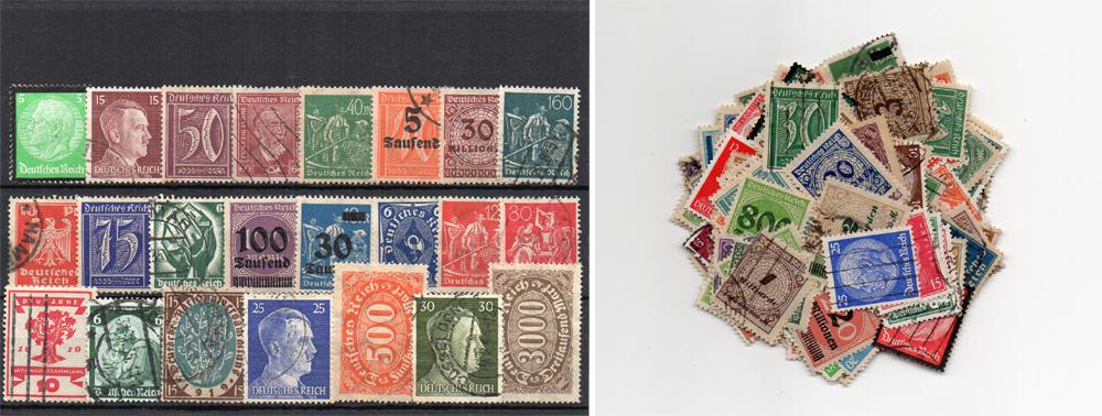160 selos diferentes da Alemanha (Terceiro Reich)