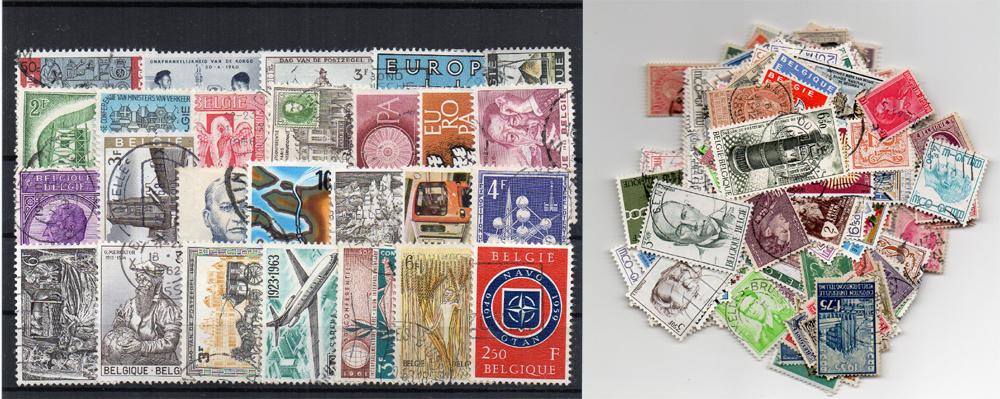 270 selos diferentes da Bélgica