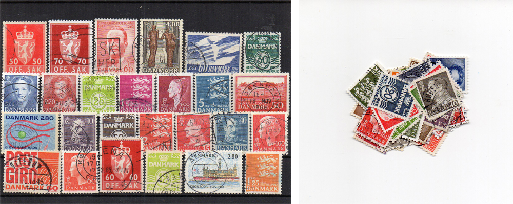 65 selos diferentes da Dinamarca