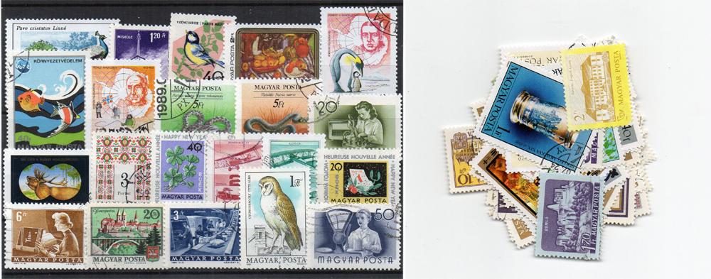 60 selos diferentes da Hungria