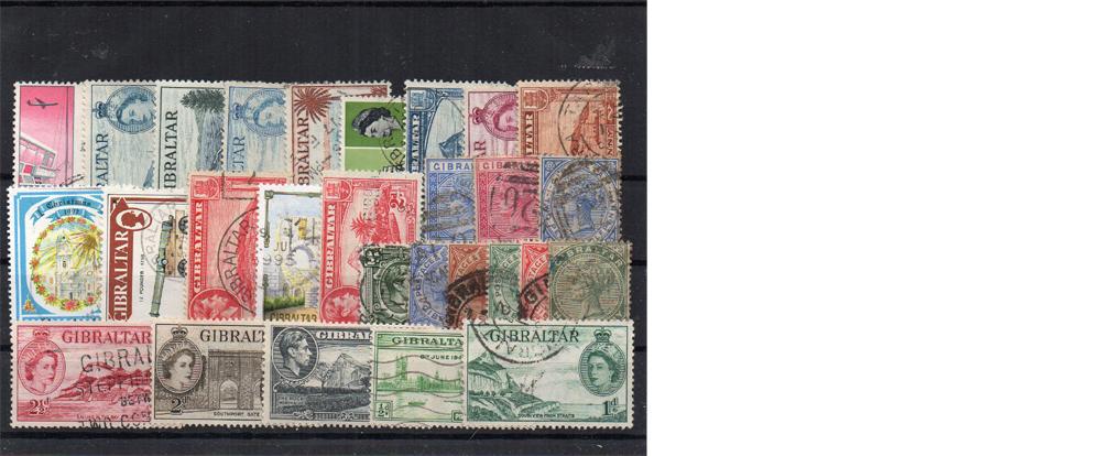 28 selos diferentes de Gibraltar