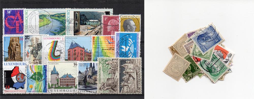 50 selos diferentes do Luxemburgo