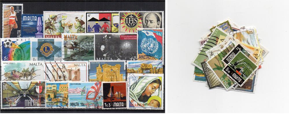 45 selos diferentes de Malta