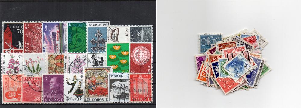 100 selos diferentes da Noruega