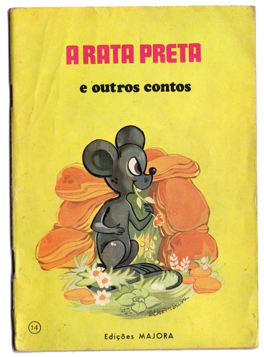 Livro antigo Majora -  A Rata Preta e outros contos