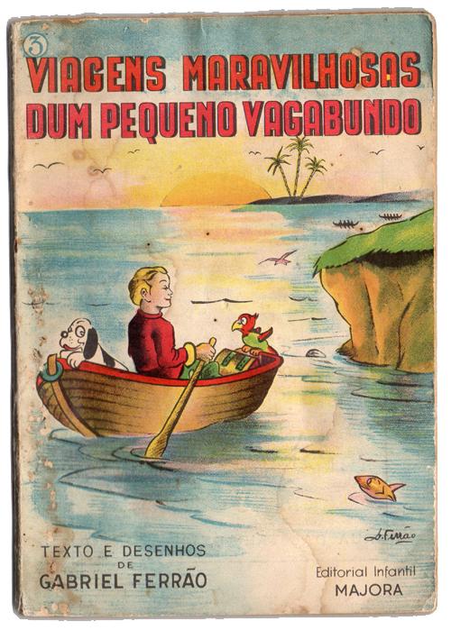 Livro antigo Majora - Viagens maravilhosas dum pequeno vagabundo