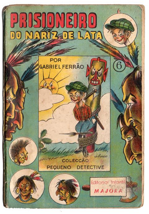 Livro antigo Majora - Prisioneiro do nariz de lata