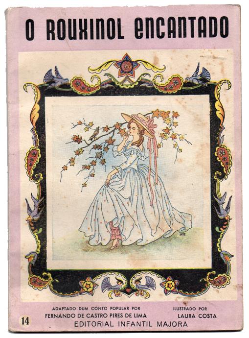 Livro antigo Majora - O rouxinol encantado