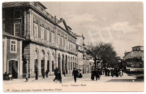 Postal antigo do Porto - Palácio Real. Edição Alberto Ferreira