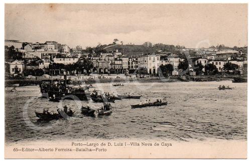 Postal antigo do Porto - Largo D.Luiz I - Vila Nova de Gaia. Edição Alberto Ferreira