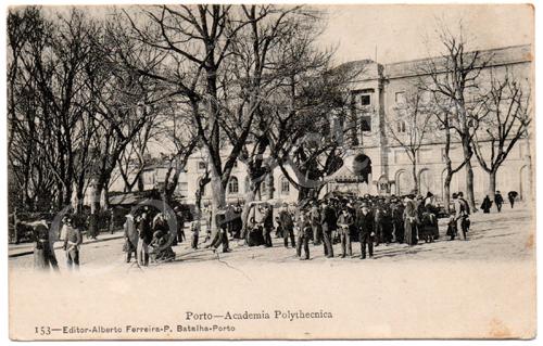 Postal antigo do Porto- Academia Politécnica. Edição Alberto Ferreira.