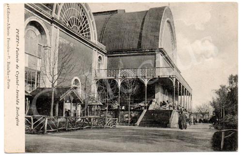 Postal antigo Porto- Palácio de Cristal, Avenida Zoológica. Edição Alberto Ferreira