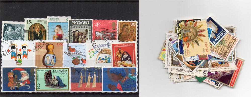 70 selos diferentes de Natal