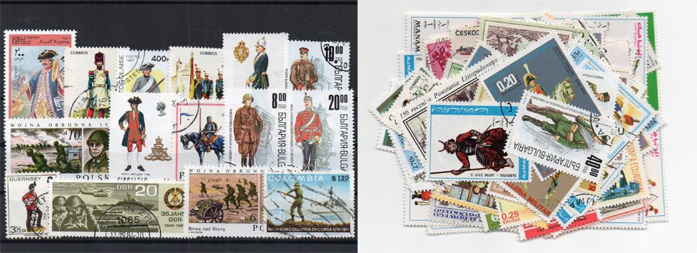 90 selos diferentes de militares